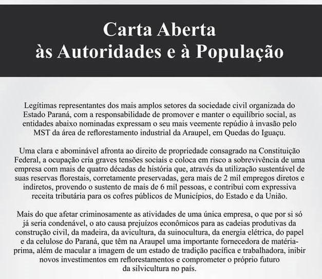 7b1b1533e44ec Carta Aberta às Autoridades e à População – ACIQI